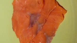 Cold smoked salmon LOX