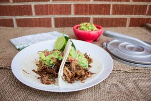 Smoked Carnitas with tropical guacamole